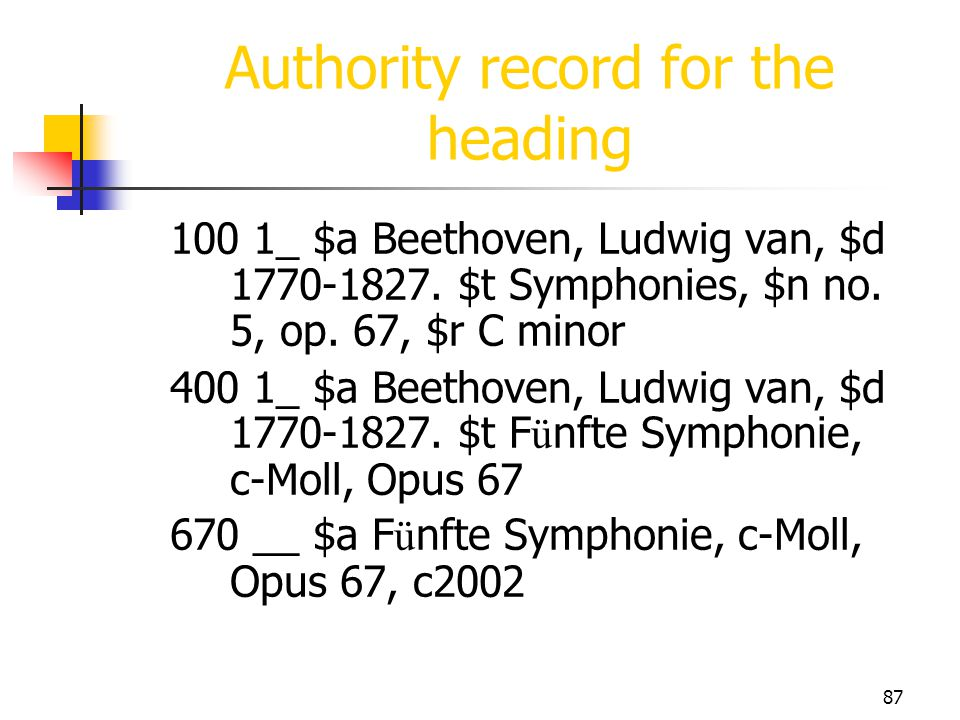 Authority record for the heading