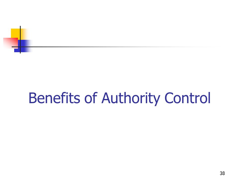 Benefits of Authority Control