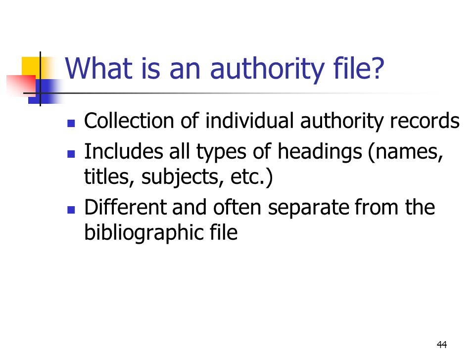 What is an authority file