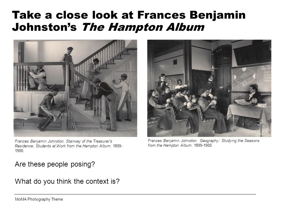 Take a close look at Frances Benjamin Johnston's The Hampton Album
