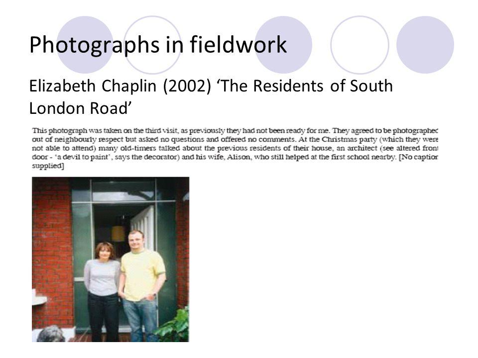 Photographs in fieldwork