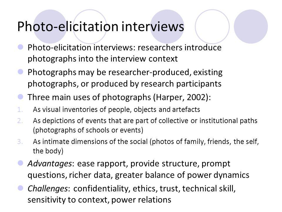 Photo-elicitation interviews