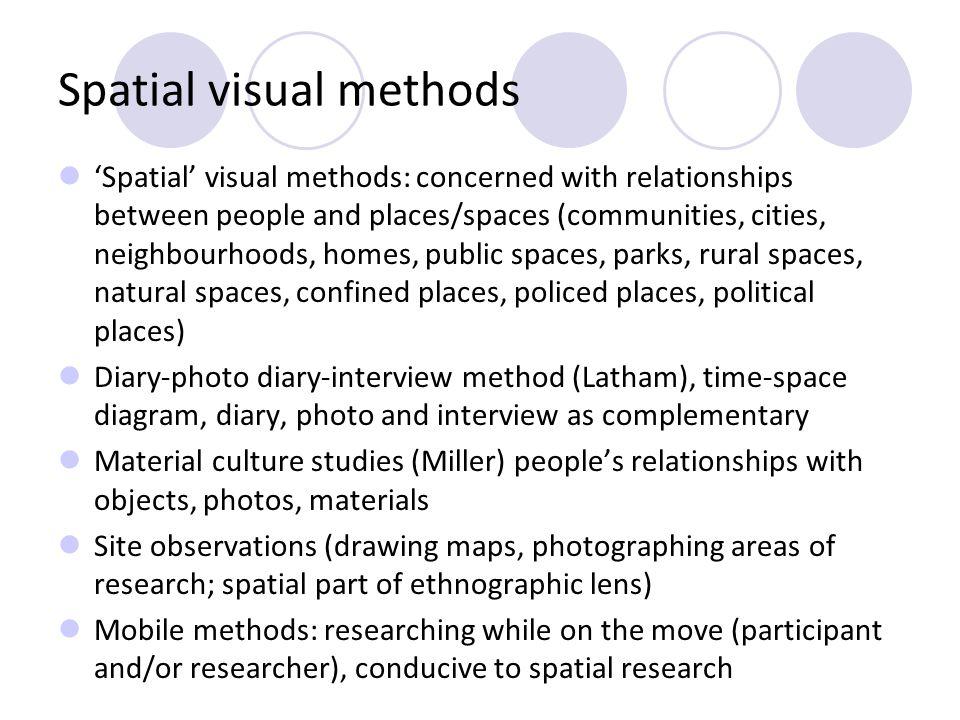 Spatial visual methods