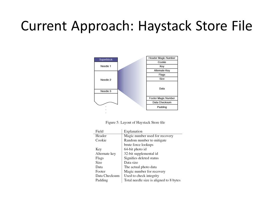 Current Approach: Haystack Store File