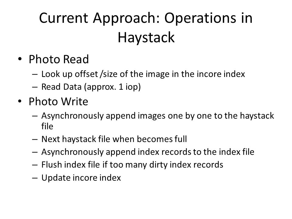 Current Approach: Operations in Haystack