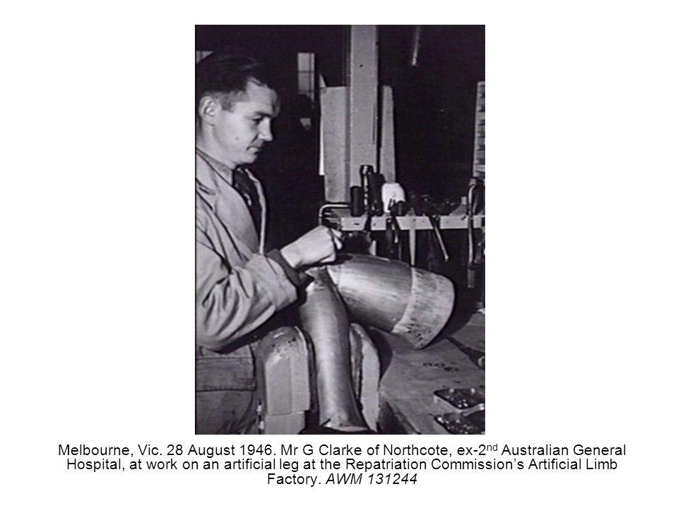Melbourne, Vic. 28 August 1946.
