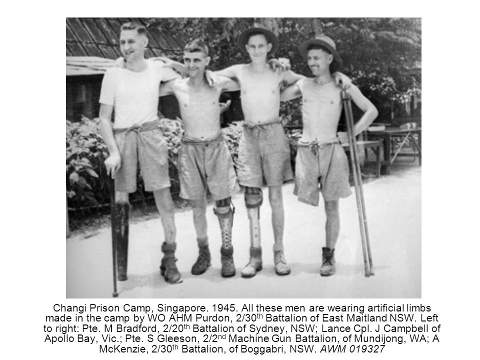 Changi Prison Camp, Singapore. 1945