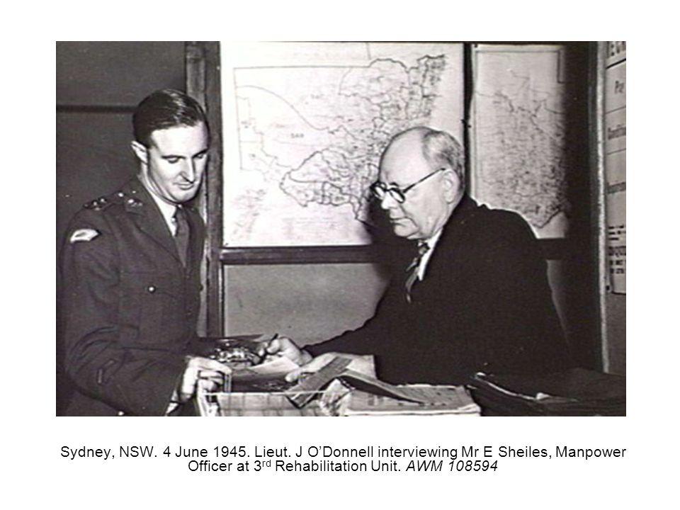 Sydney, NSW. 4 June 1945. Lieut.