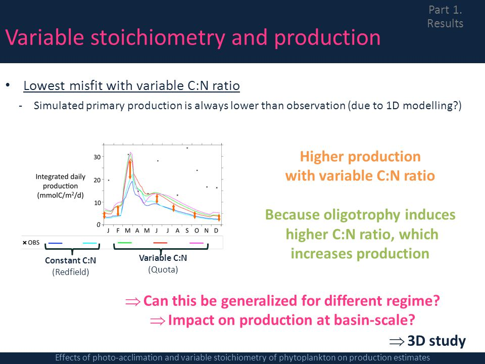 Variable stoichiometry and production