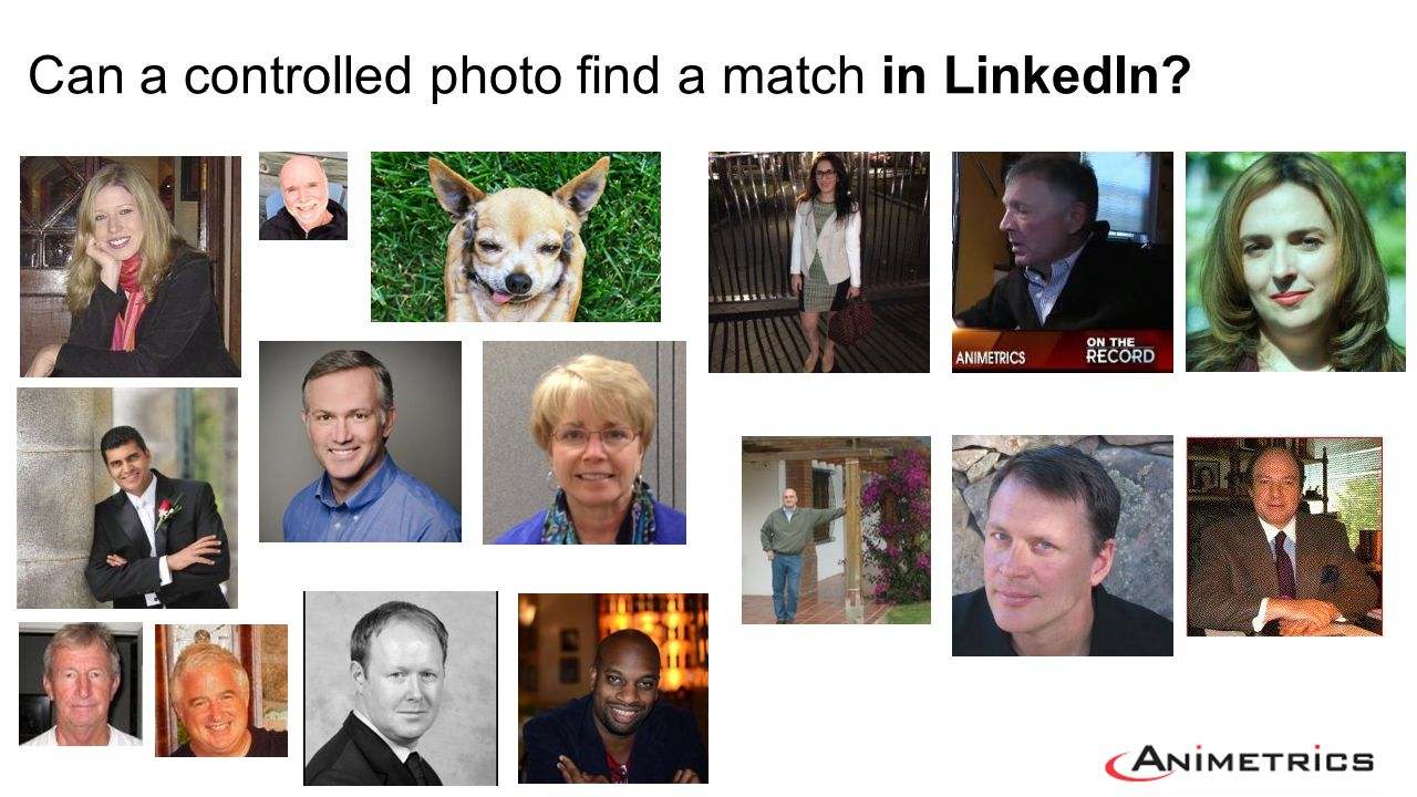 Can a controlled photo find a match in LinkedIn