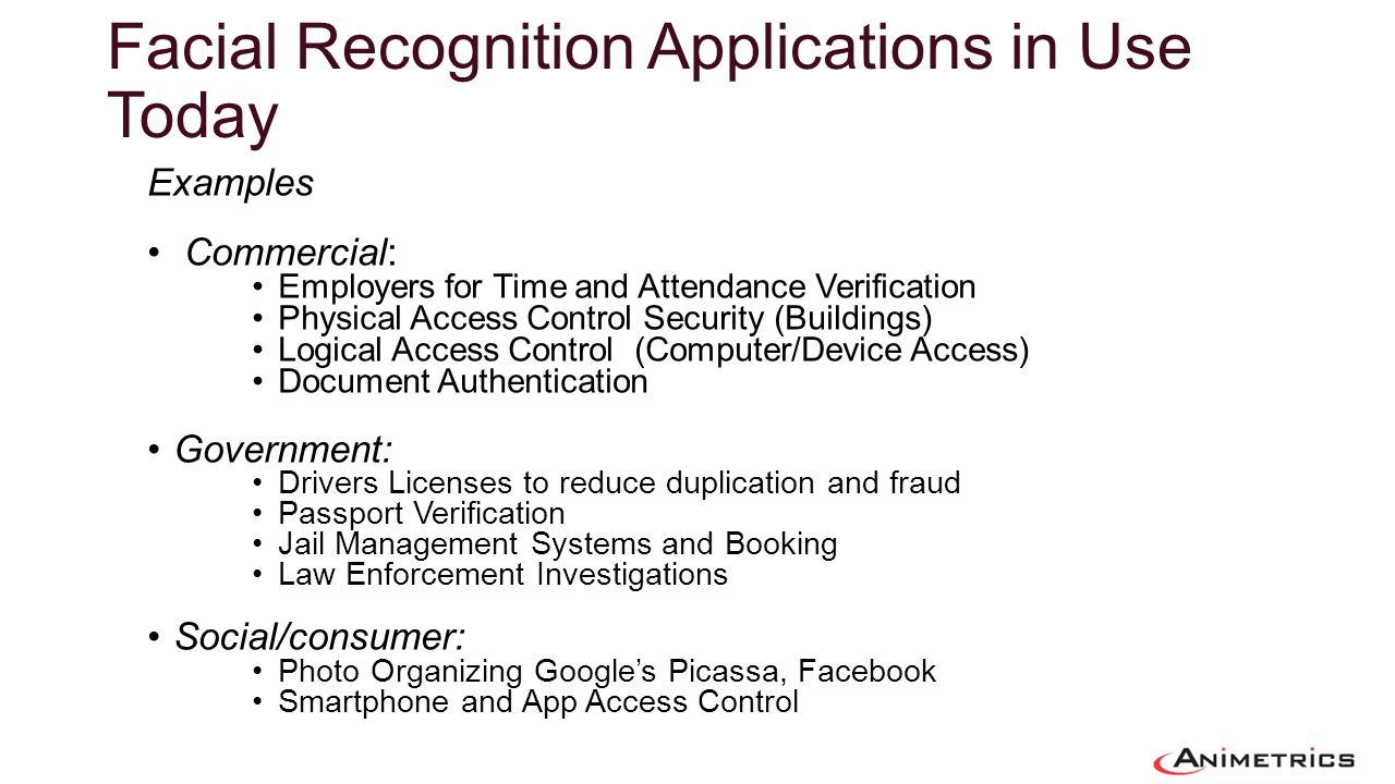 Facial Recognition Applications in Use Today