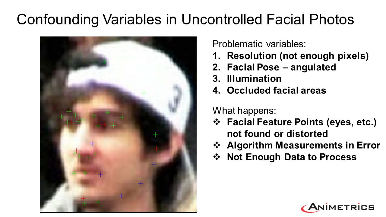 Confounding Variables in Uncontrolled Facial Photos