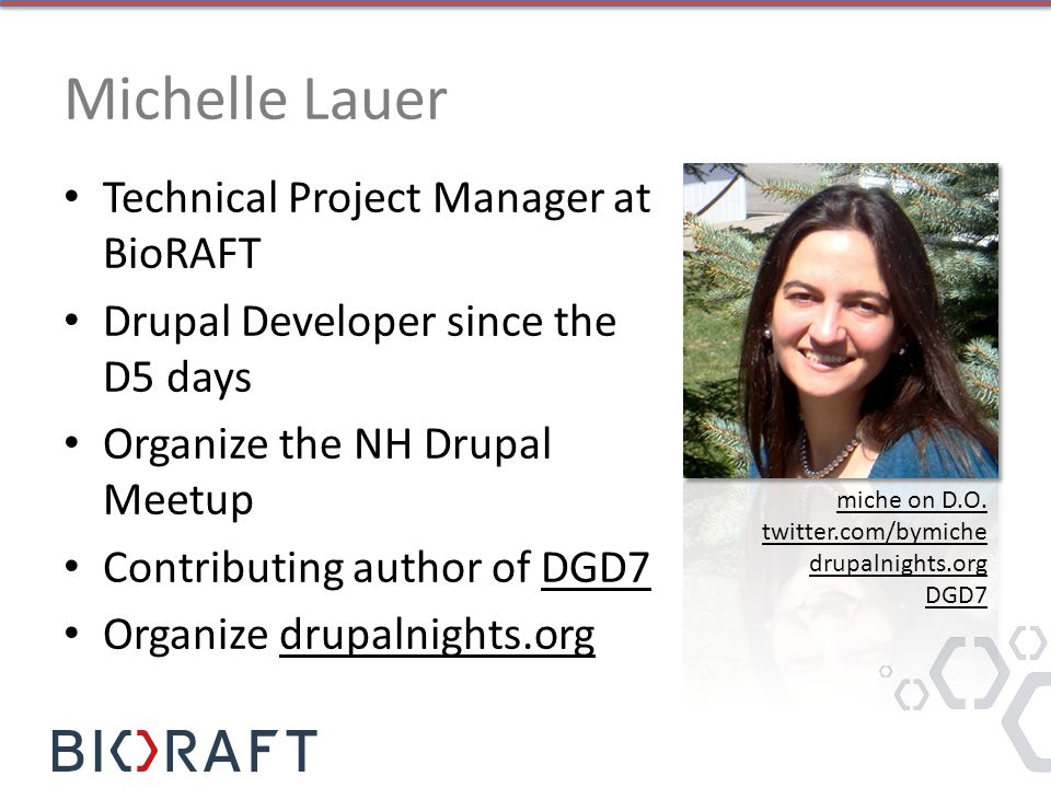 Michelle Lauer Technical Project Manager at BioRAFT