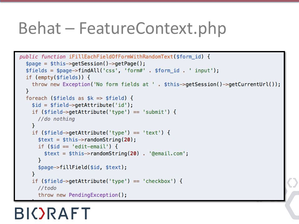 Behat – FeatureContext.php