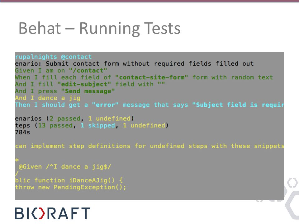 Behat – Running Tests