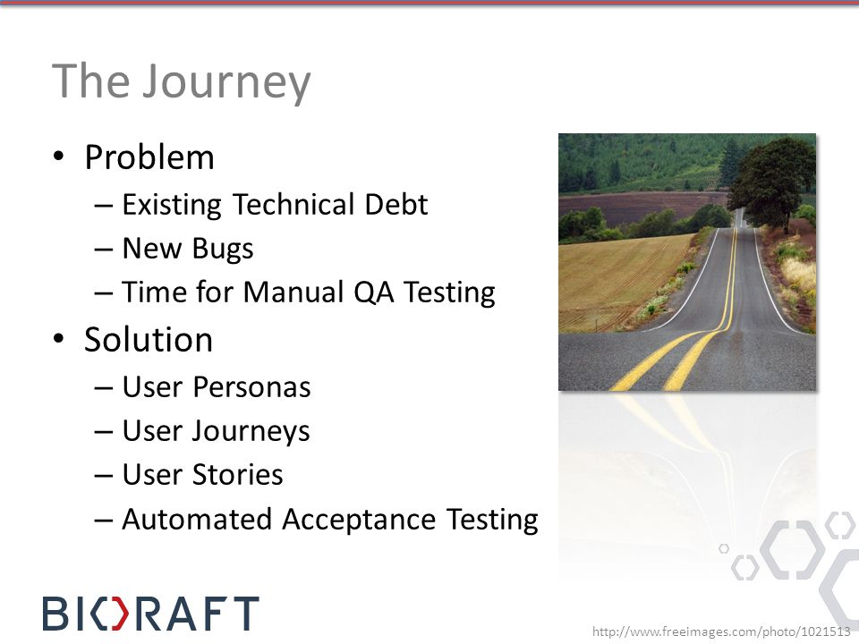 The Journey Problem Solution Existing Technical Debt New Bugs
