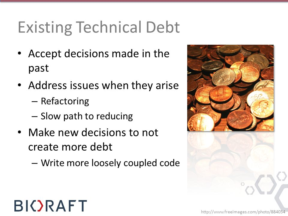 Existing Technical Debt