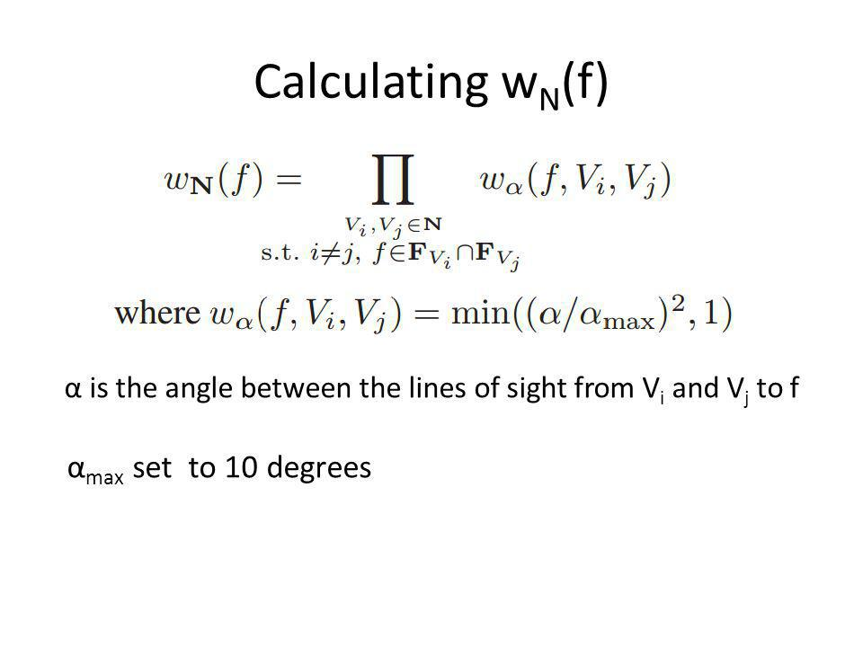 Calculating wN(f) αmax set to 10 degrees