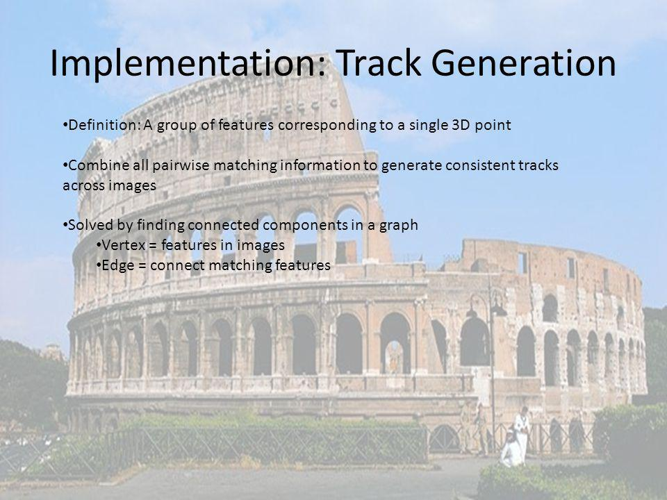 Implementation: Track Generation