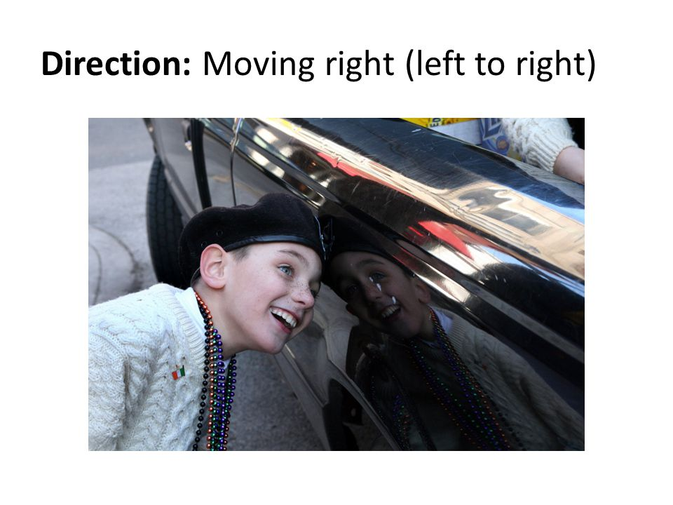 Direction: Moving right (left to right)