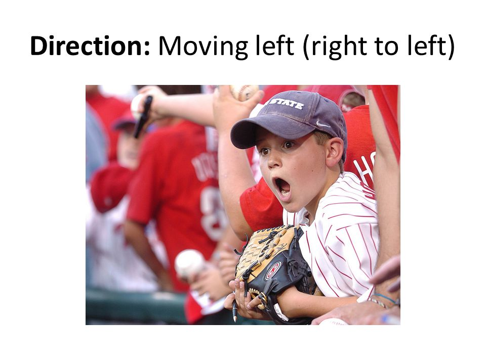 Direction: Moving left (right to left)