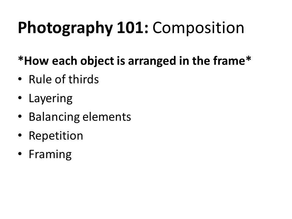 Photography 101: Composition