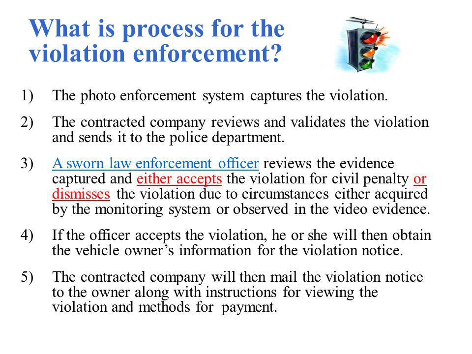 What is process for the violation enforcement