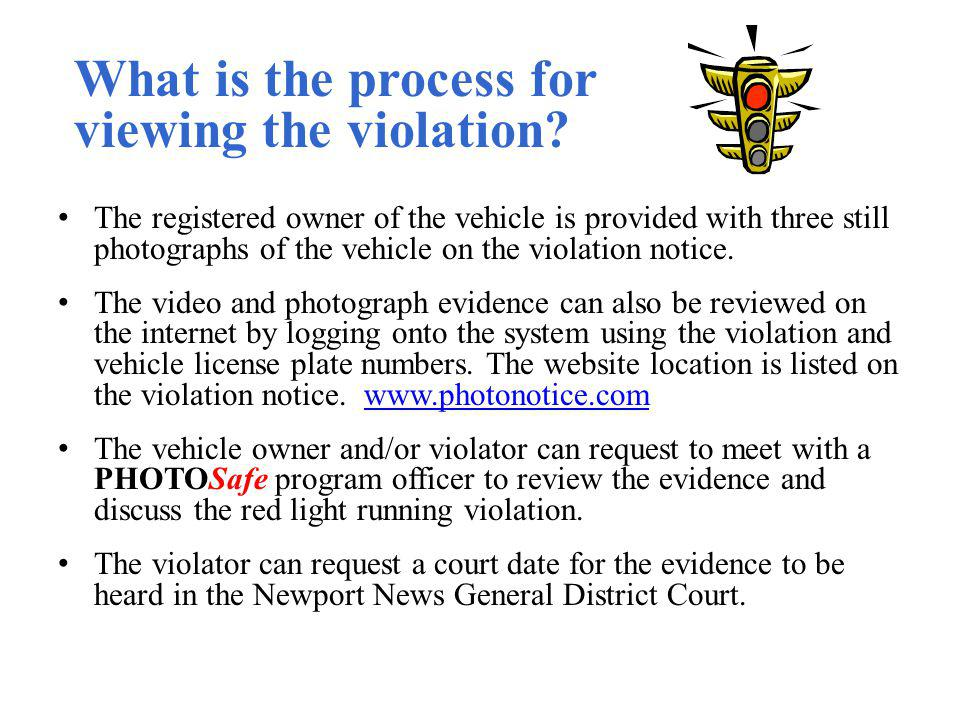What is the process for viewing the violation