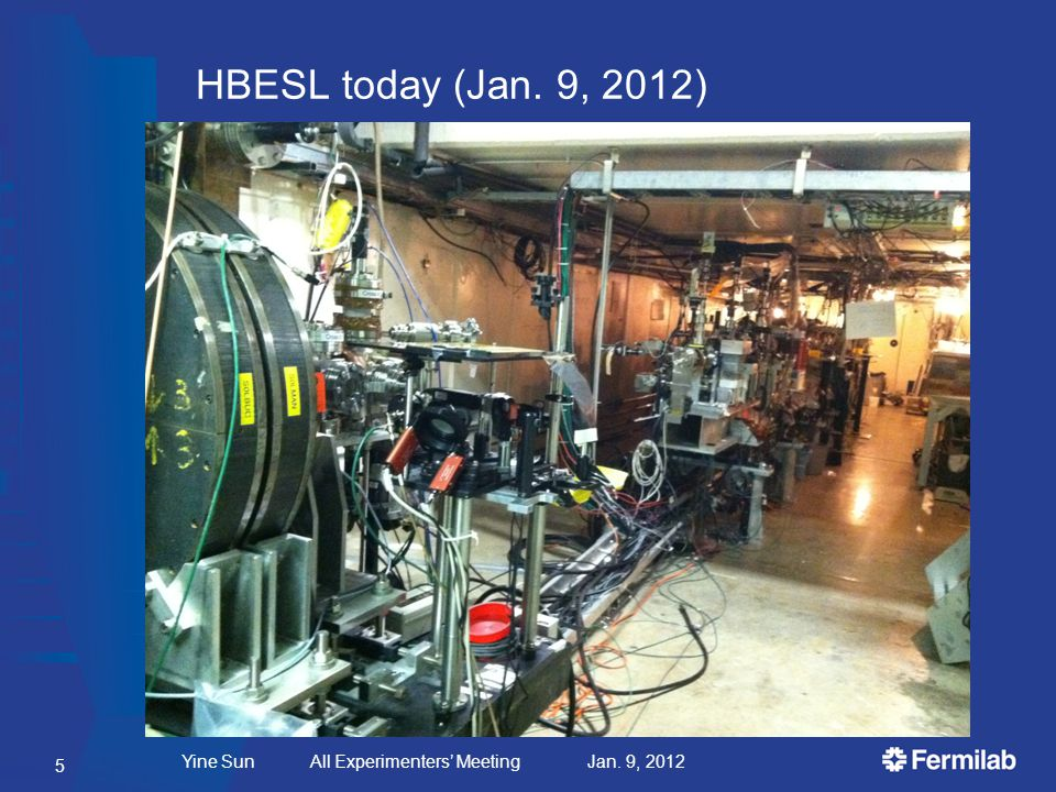HBESL today (Jan. 9, 2012) Yine Sun All Experimenters' Meeting Jan. 9, 2012