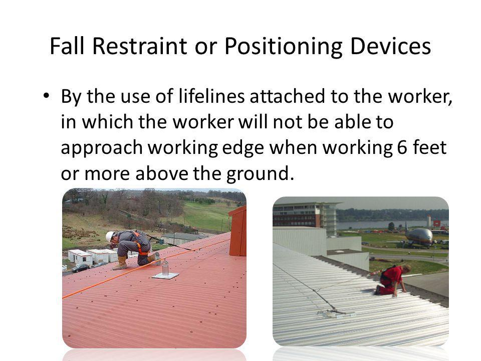 Fall Restraint or Positioning Devices
