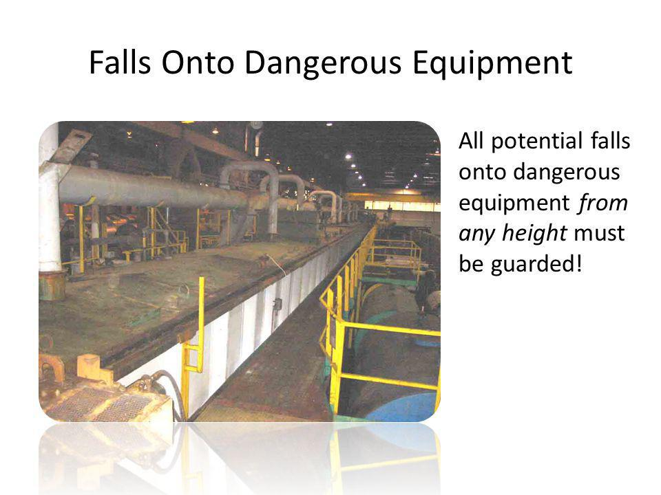 Falls Onto Dangerous Equipment