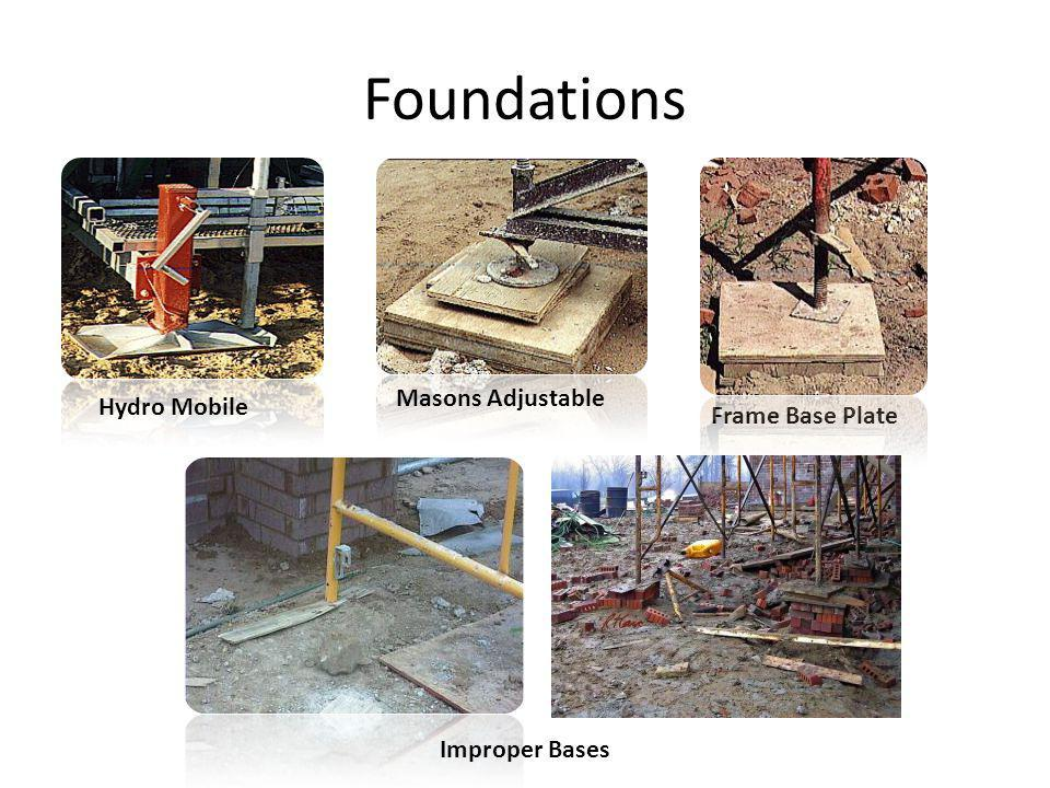 Foundations Masons Adjustable Hydro Mobile Frame Base Plate