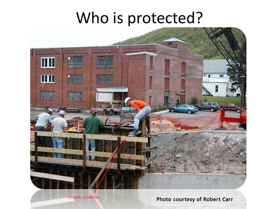 Who is protected Photo courtesy of Robert Carr Trainer Notes:
