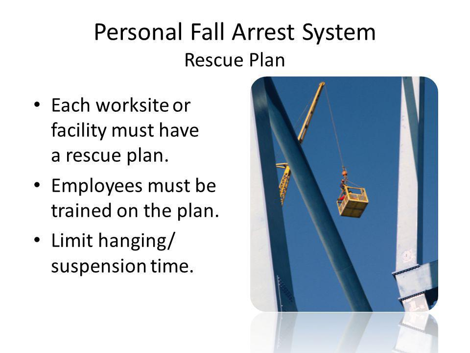 Personal Fall Arrest System Rescue Plan