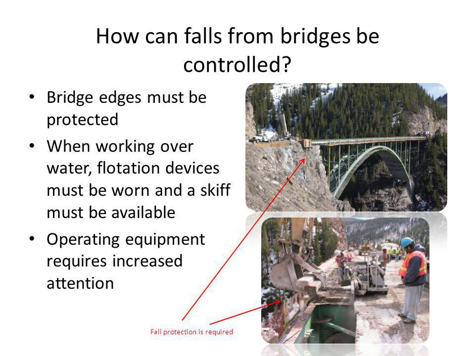 How can falls from bridges be controlled