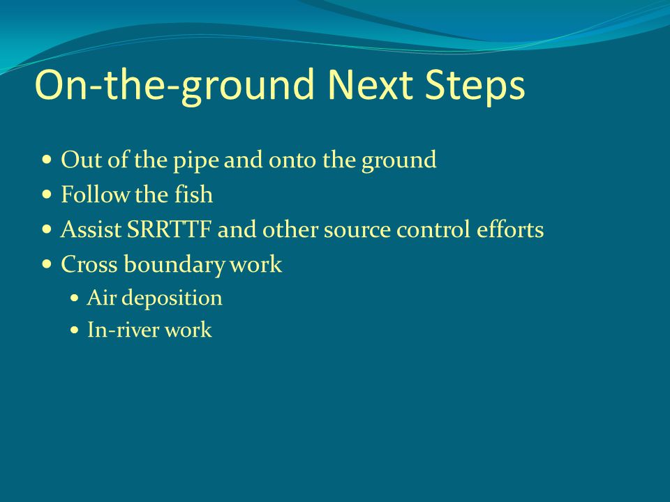 On-the-ground Next Steps