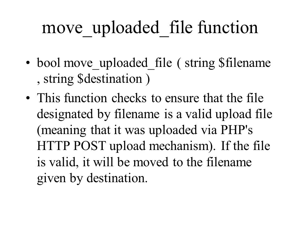 move_uploaded_file function