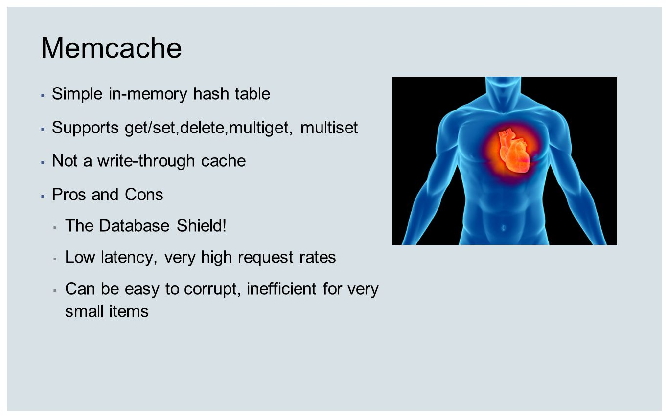 Memcache Simple in-memory hash table