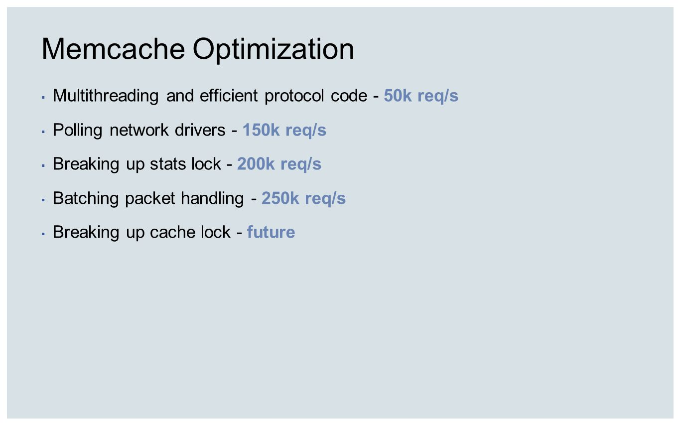 Memcache Optimization