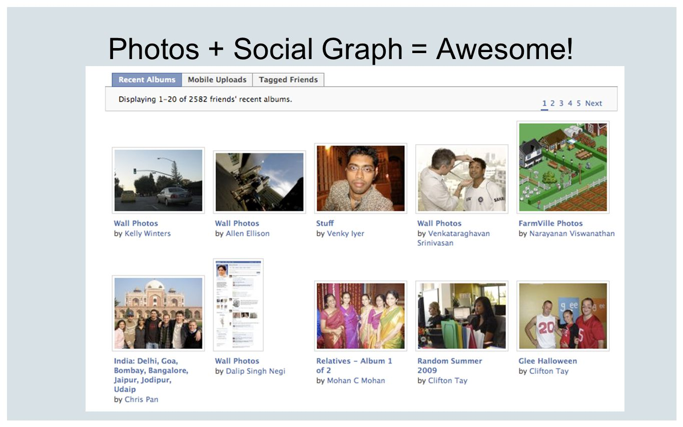 Photos + Social Graph = Awesome!