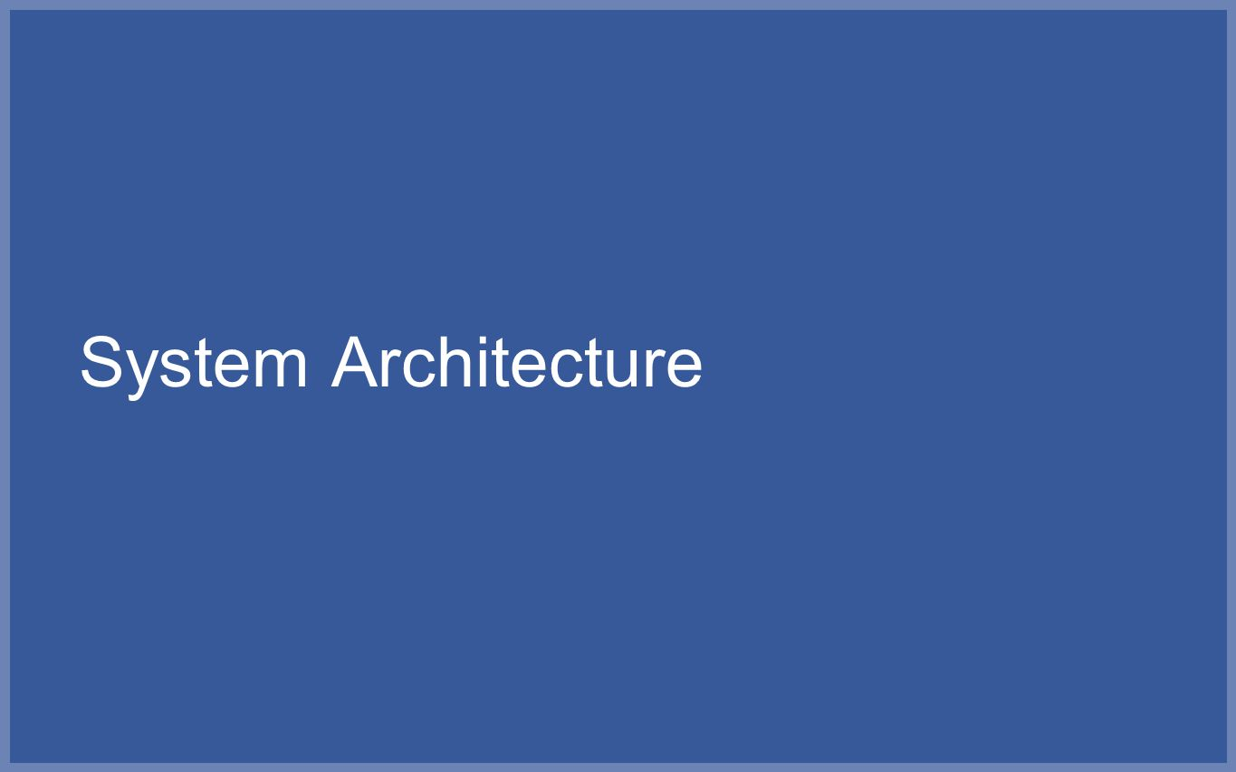 System Architecture So what makes the work at Facebook challenging
