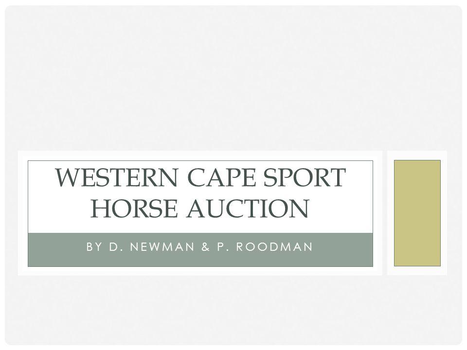 Western Cape Sport Horse Auction