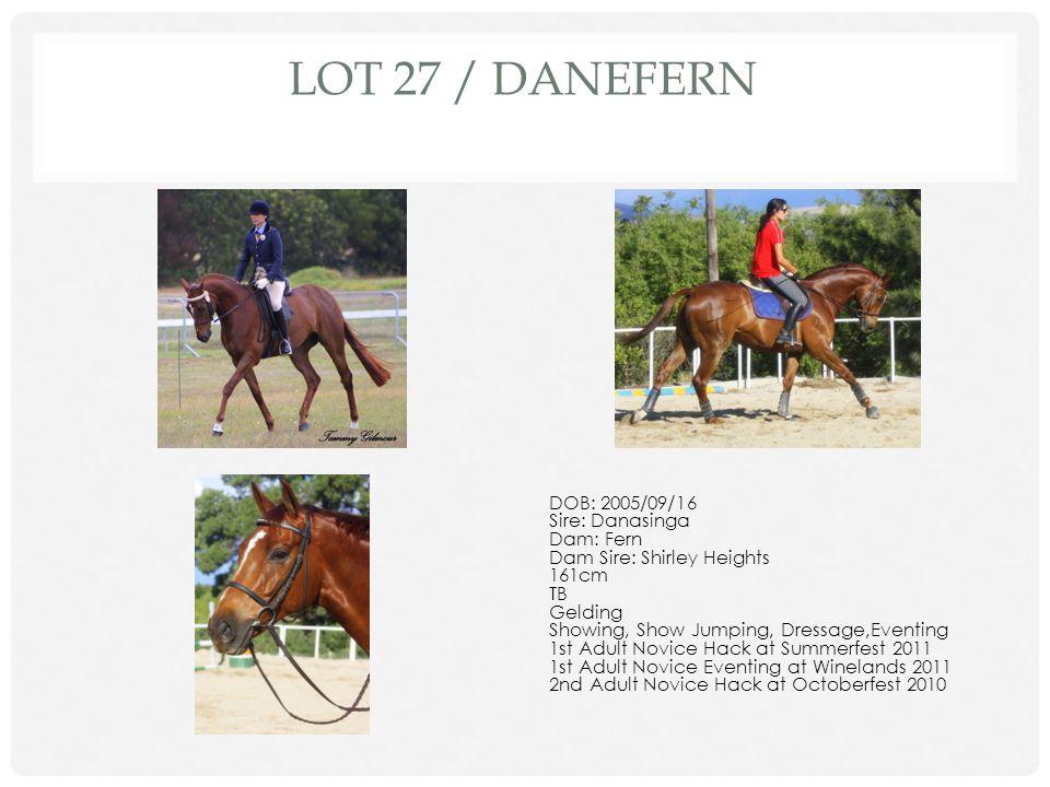 LOT 27 / Danefern DOB: 2005/09/16 Sire: Danasinga Dam: Fern