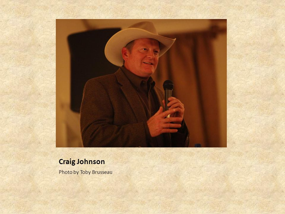 Craig Johnson Photo by Toby Brusseau