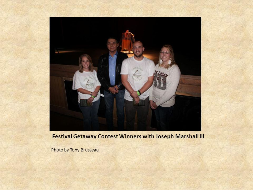 Festival Getaway Contest Winners with Joseph Marshall III