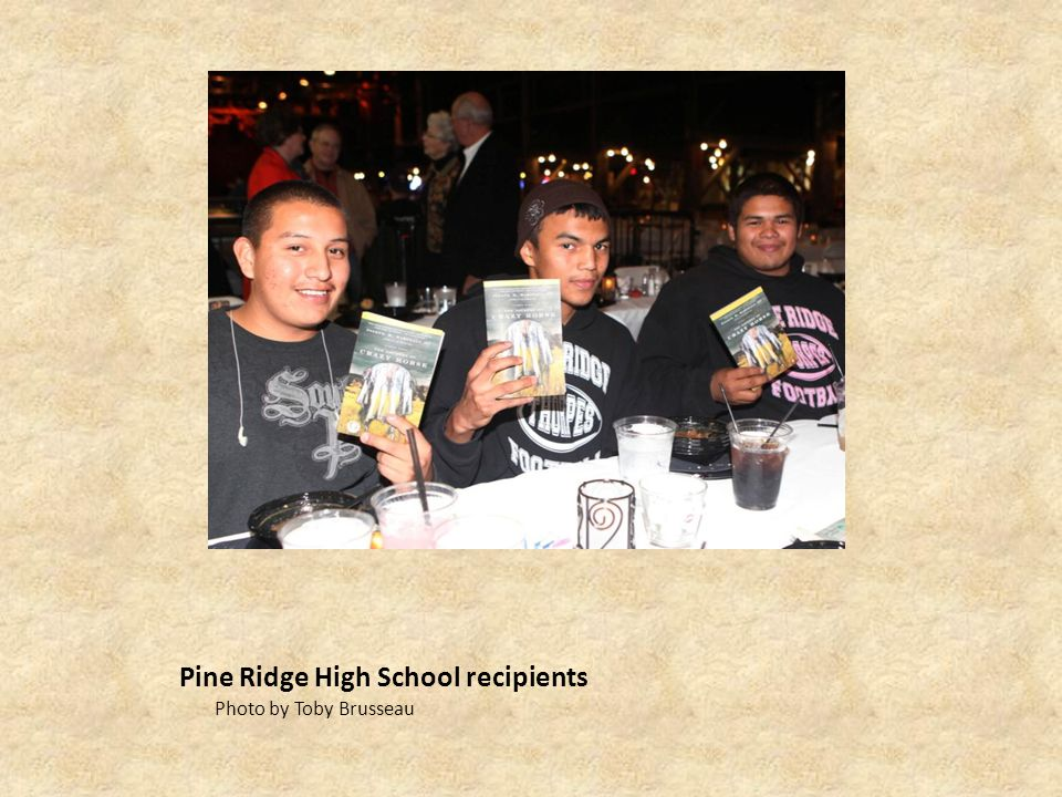 Pine Ridge High School recipients