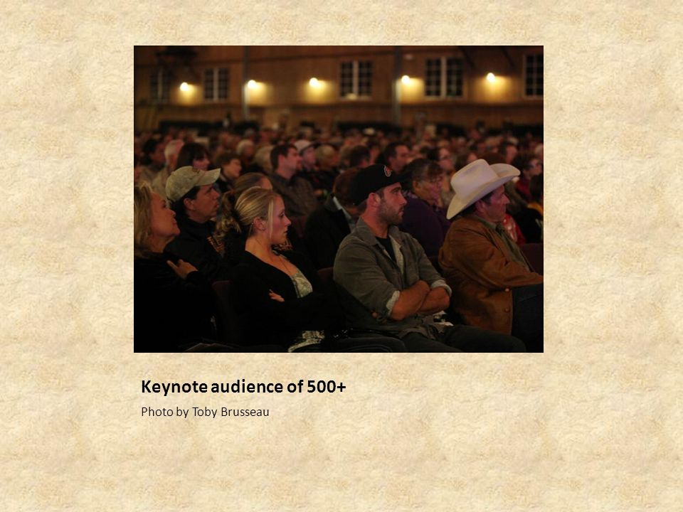 Keynote audience of 500+ Photo by Toby Brusseau