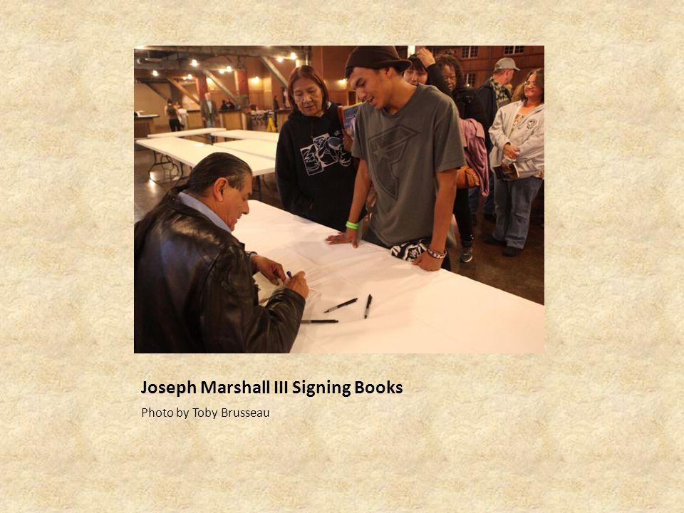 Joseph Marshall III Signing Books