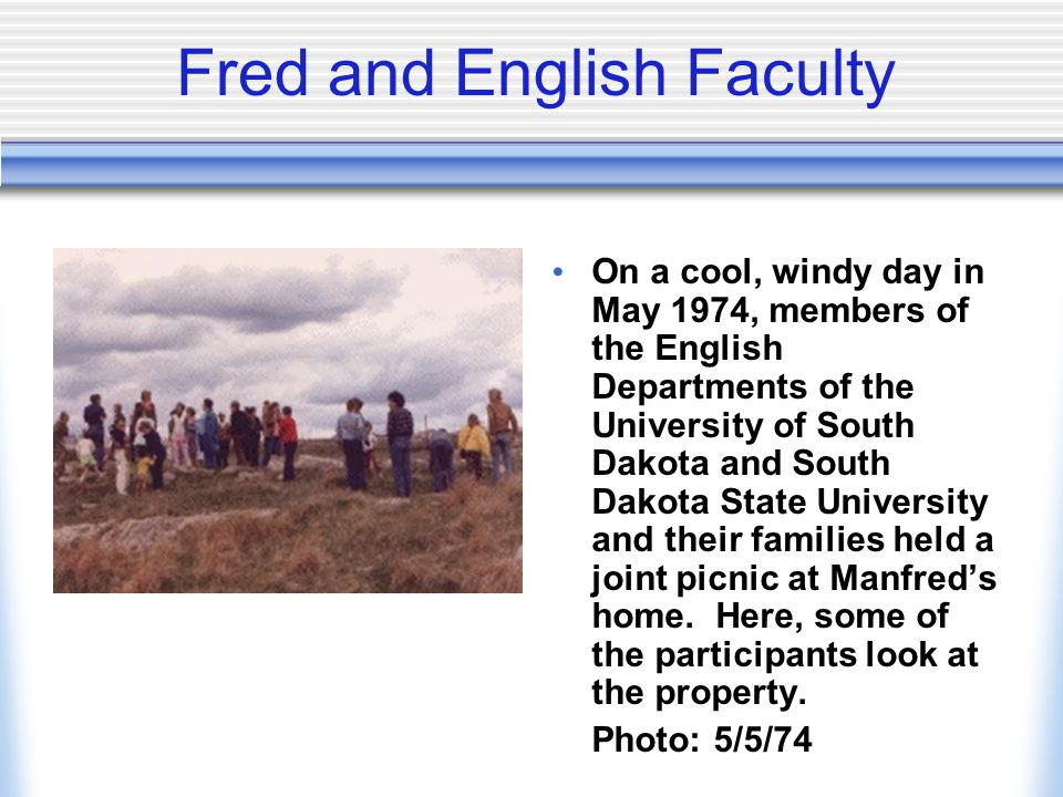Fred and English Faculty
