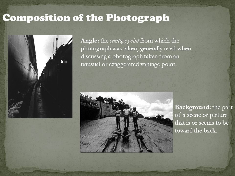 Composition of the Photograph
